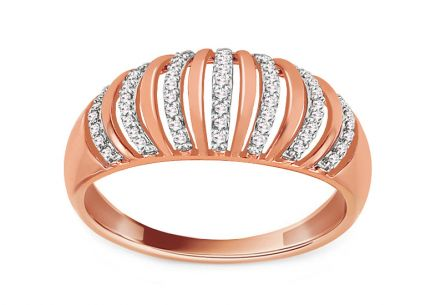 Diamant Ring aus Roségold 0,110 ct Raimonda