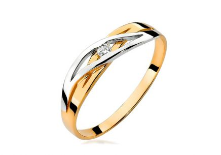 Gold diamant ring 0,040 ct