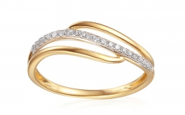 Gold Diamant Ring 0,090 ct Izarra