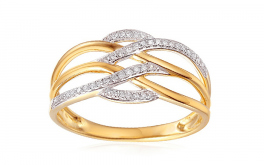 Gold Diamant Ring 0,110 ct Elina