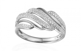 Gold Diamant Ring 0,280 ct Sibel white