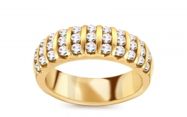 Goldring mit Brillanten 0,800 ct
