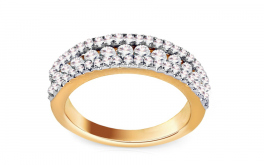 Goldring mit Brillanten 1,000 ct