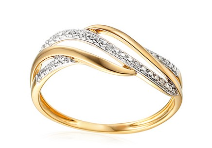 Goldring mit Diamanten 0,020 ct Hillaria