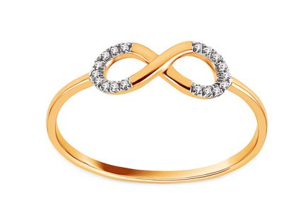 Goldring mit Diamanten 0,030 ct Infinity