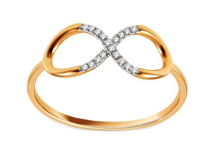 Goldring mit Diamanten 0,050 ct Infinity