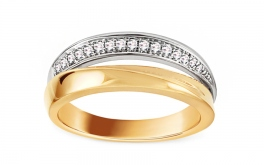 Goldring mit Diamanten 0,120 ct Sivani