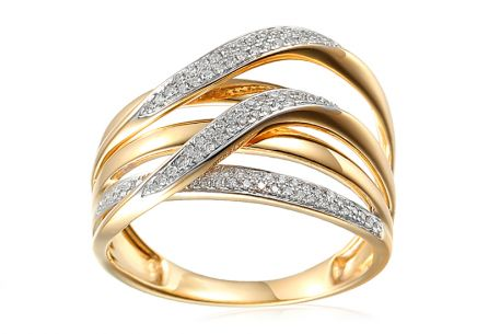 Goldring mit Diamanten 0,210 ct Elice