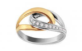 Ring mit Diamanten 0,110 ct Fabulous