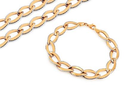 goldset halskette mit armband. Black Bedroom Furniture Sets. Home Design Ideas