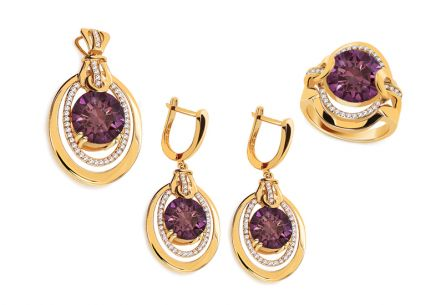 Goldset mit Amethyst aus der Kollektion Ball Season