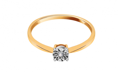 Verlobungsring mit Diamant 0,010 ct Love Angel - K9U03