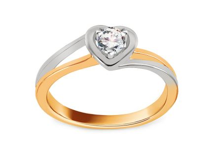 Verlobungsring mit Diamanten 0,140 ct Sweet Heart
