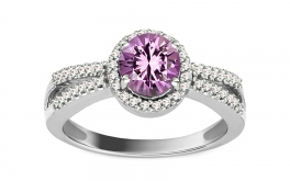 Diamantring mit Amethyst Domenica