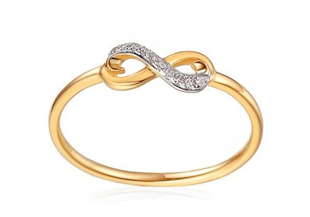 Gold Diamant Ring Infinity