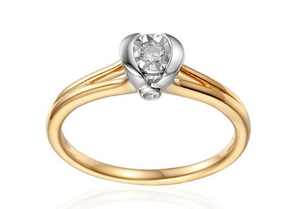 Gold Verlobungsring mit Diamanten 0,120 ct Marely