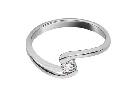 Verlobungsring mit Diamanten 0,150 ct Lines Of Love