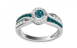 Luxuriöser Ring mit blauen Diamanten Blue Lagoon 0,610 ct
