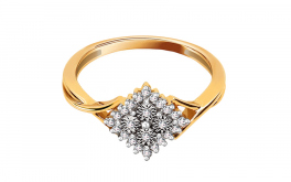 Verlobungsring mit Diamanten Queen Illusion 0.130 ct