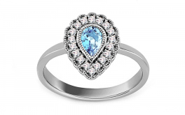 Topas Ring mit Diamanten 0,130 ct Brea 7