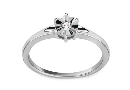 Verlobungsring mit Diamanten 0,060 ct In Love