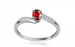 Diamantring Victorian red Beauty 0,047 ct
