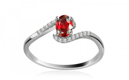 Diamantring 0,072 ct Victorian red Tear