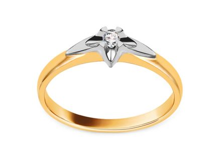 Goldener Verlobungsring mit Diamanten von 0,040 ct. Always collection