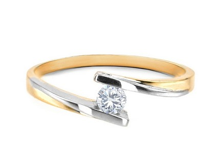 Verlobungsring mit Diamanten Combination of Love 0,150 ct